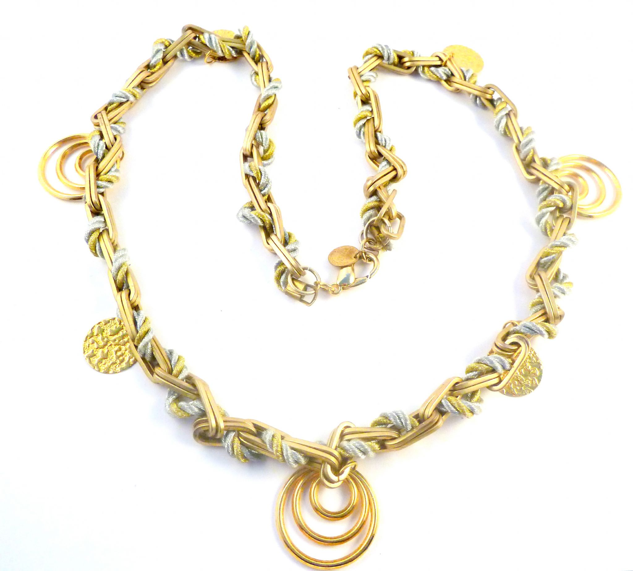 d71eddb51de019 Chunky Gold Spiral Bead Necklace By Anna Lou Of London.