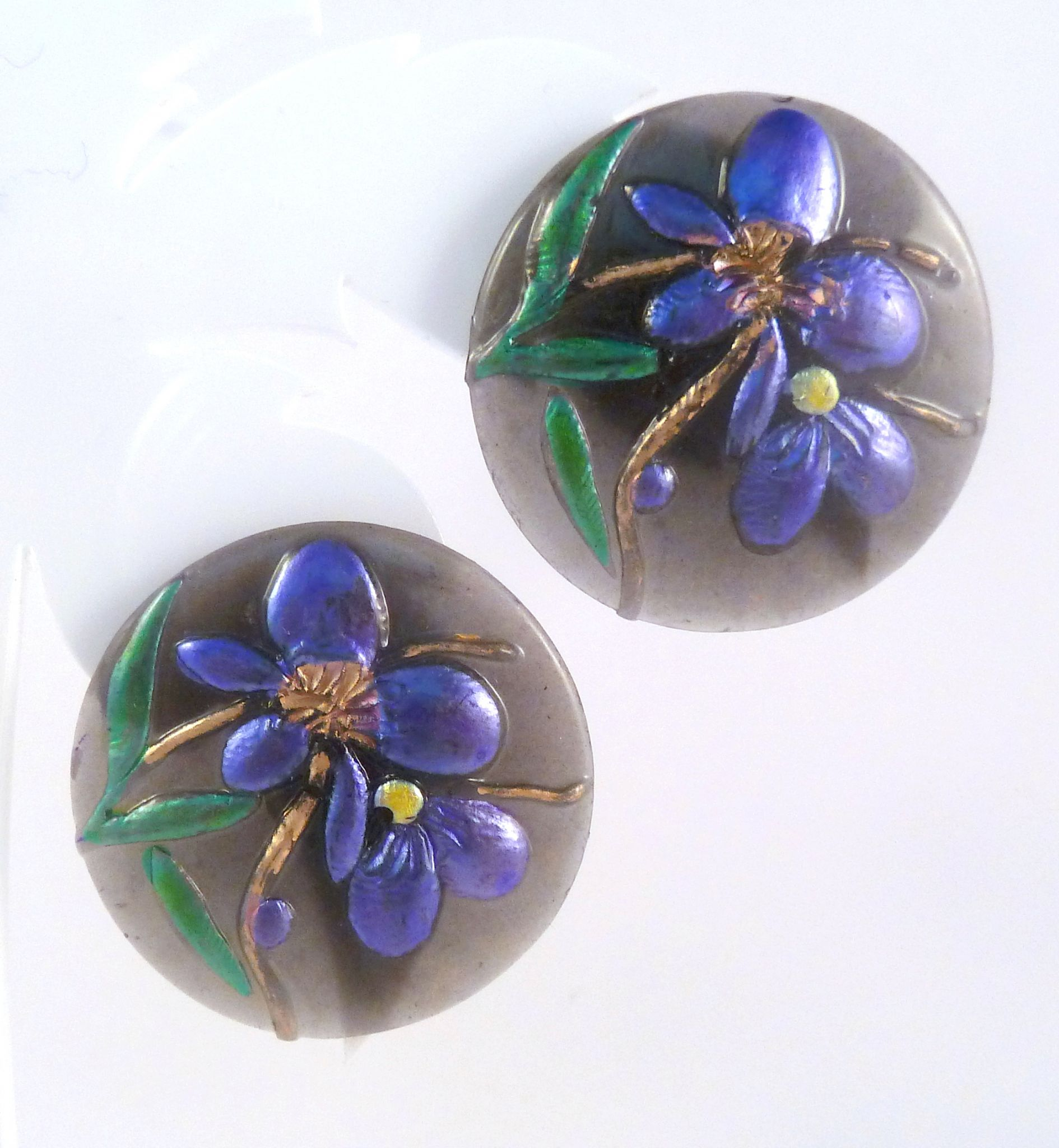 click in setting pierced earrings flower to f item gold lavender expand earring full jade plated purple