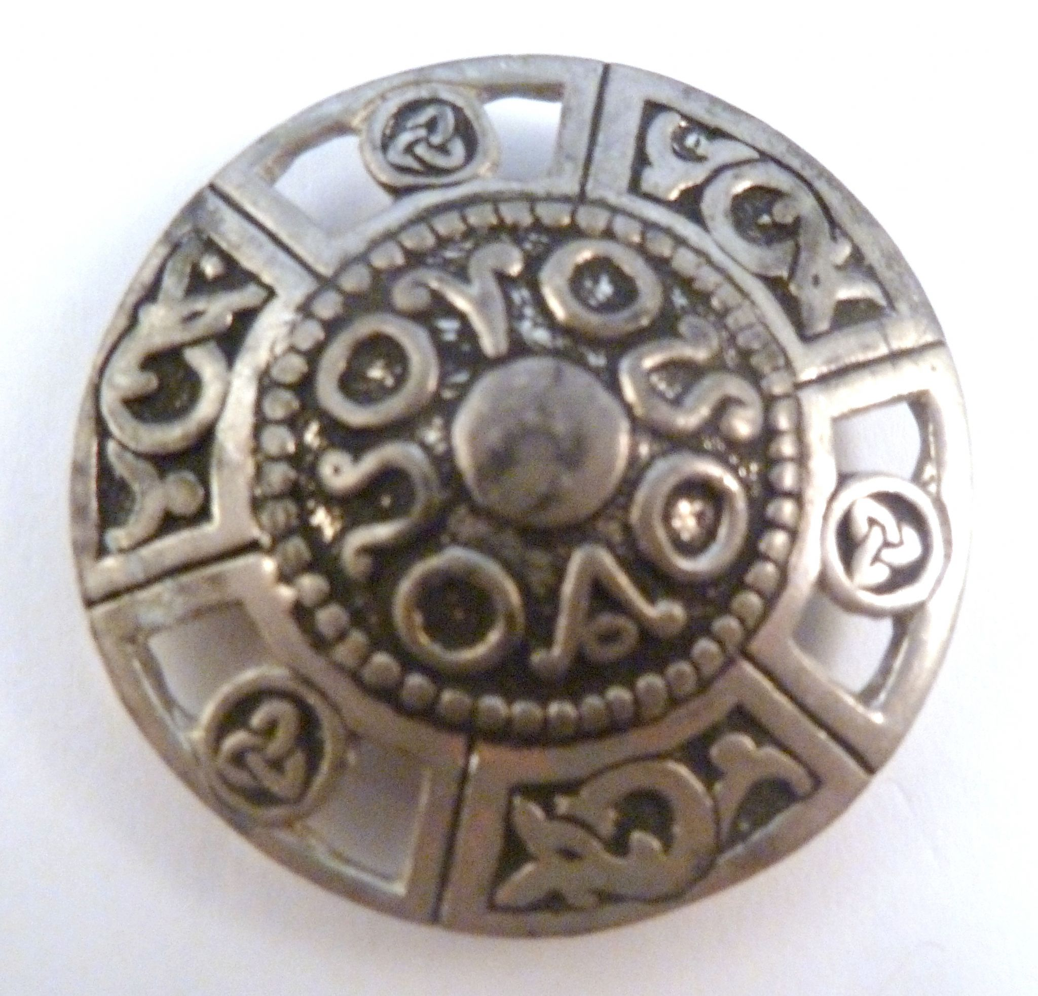 accessories on pin pewter fashion online white of brooch celtic image isolated stock
